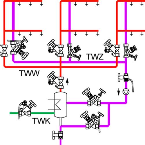 Regulace a vyvážení TUV / PROFITHERM CZ